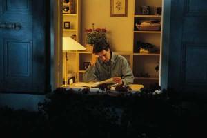 man wworking at home